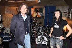 Veronica Bellino with UK Soultone Rep. Adrian Darby